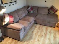 Cargo Sienna corner sofa & Footstool (mink)