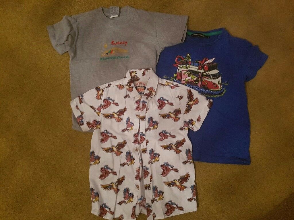 2 tshirts and 1 shirt age 6 to 7.