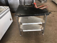 CATERING EQUIPMENT - CORNER TABLE WITH 2 SHELFS - NEW