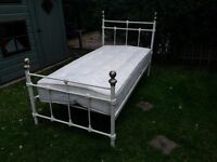 Single bed with lamp and mattress Good condition