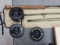 Fly rod with reel and lines