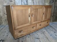 Ercol sideboard blue label great colour deep, original natural finish [#2] UK delivery gplanera