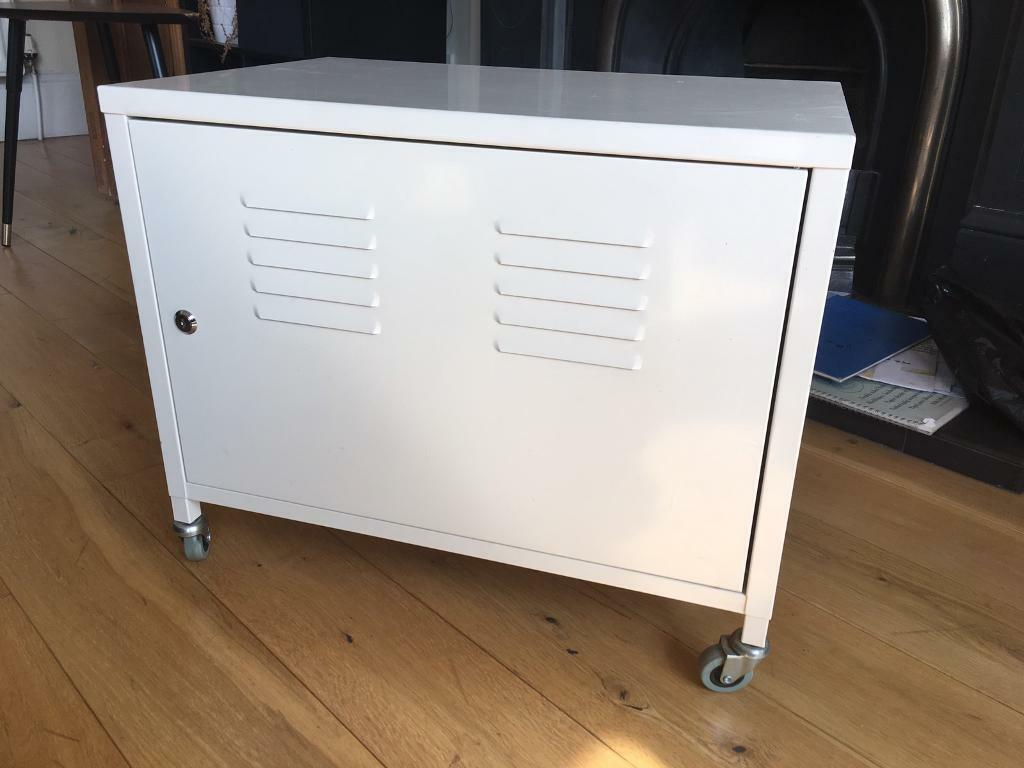 Ikea ps white metal cabinet on wheels in southside for Metal lockers ikea