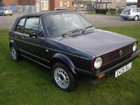 MK1 GOLF GTI 1987 CABRIOLET, HELIOS BLUE, HPI CLEAR, 81K MILES, MAY P/EX