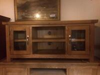 New solid oak tv units from £240