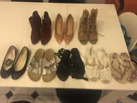 Bundle of shoes (8) , size 4-5, 3 brand new!