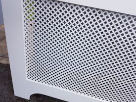 Radiator cover, white