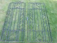 Metal garden side gate