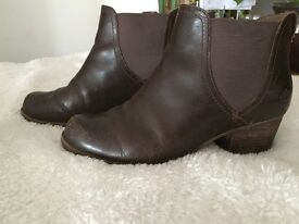 Timberland U.K. 6 ankle boots brown leather