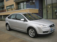 2007 ford focus ghia 1.6 tdci diesel manual, 2 owner, l2 mot, 5 door, silver,110k f/s/h, hpi clear
