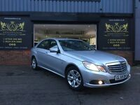 2010 Mercedes-Benz E Class 2.1 E200 CDI BlueEFFICIENCY SE 4dr GREAT SPEC BLACK LEATHER HEATED SEATS