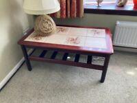 Vintage Retro 70s G Plan tiled coffee table with magazine rack shelf