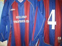 15 UMBRO FOOTBALL SHIRTS - AS NEW - (Kirkby in Ashfield)