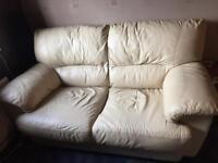 2 & 3 Leather sofa