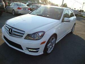 "2013 Mercedes C350 4MATIC NAVI-TECH 18""MAGS 34,105KM! Blanche-NO"