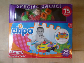 Playskool Clipo Creativity Table (like stickle bricks) in excellent condition (extra 75 pieces)