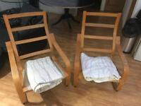 2X Ikea Poang chair frames and covers