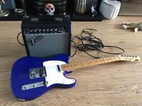 Fender squier affinity guitar and fender bullet 15 amp