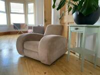 Very cool deco armchairs