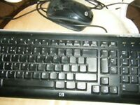 HP Computer keyboard and mouse. Good condition.