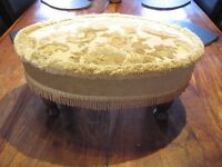 Vintage French gold foot stool