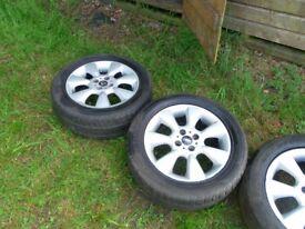 mini cooper 16 inch alloys tyres