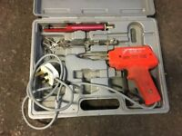 Soldering iron gun kit with box