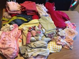 0-3 month baby girls clothes large bundle.