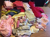 0-3 month baby girls clothes bundle. Some newborn items also.