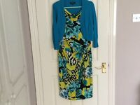 Dress with matching shrug size 14 suitable for a wedding or garden party