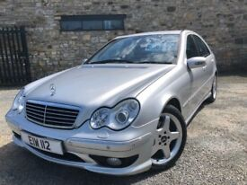 2003 03 MERCEDES C200 KOMPRESSOR 1.8 *AUTOMATIC* - JANUARY 2019 M.O.T - FULL LEATHER INTERIOR!