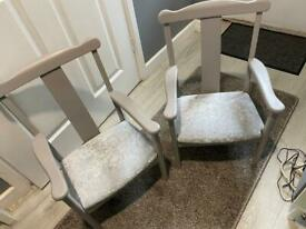 2 x children's Parker knoll chairs
