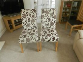 PAIR OF DECORATIVE DINING CHAIRS MUST SELL