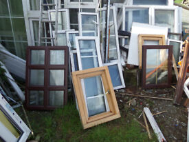 Selection of doors & windows at giveaway price of £5 each, Would be ideal for a shed/garage...