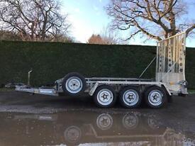 Ifor Williams 3.5T tri axle plant trailer