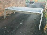 Double cattle feed trough farm livestock tractor