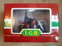 LGB GARDEN RAILWAY TRAIN FIREMAN MOTORBIKE 20030 - NEW