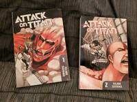 Attack on titan volume 1 & 2