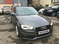 "A3 2.0 tdi S line xenon headlights half leather 18"" alloys"