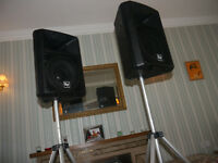 Electro Voice Sx300 speakers + stands