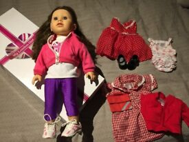 My London Girl Authentic Katy doll & 4 outfits in original box