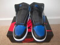 Nike Air Jordan Retro 1 Royal Blue Shoes 2017 , Trainers , Uk Size: 7.5 (Euro: 42.0) Deadstock! NEW!
