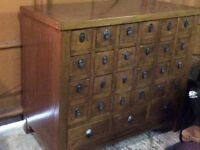 Antique Chinese medicine chest with lots of drawers