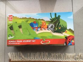 HAPE jungle train toy 18m +
