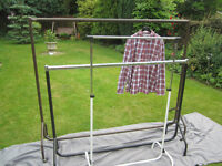 3x clothes rails, various sizes