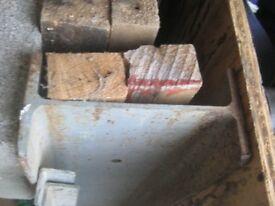 RSJ steel beam 15cm x 15 cm x 2.2m long used good condition