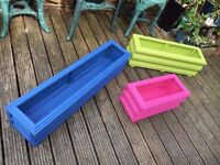 Garden Planter - Hand made - Medium - 75cm long x 23cm wide x 23cm tall - in choice of colours