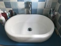 Basin and tap set
