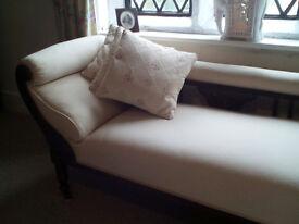 Edwardian Chaise-Longue & Chair