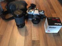 Minolta x300 with case 50mm 1.7 lens